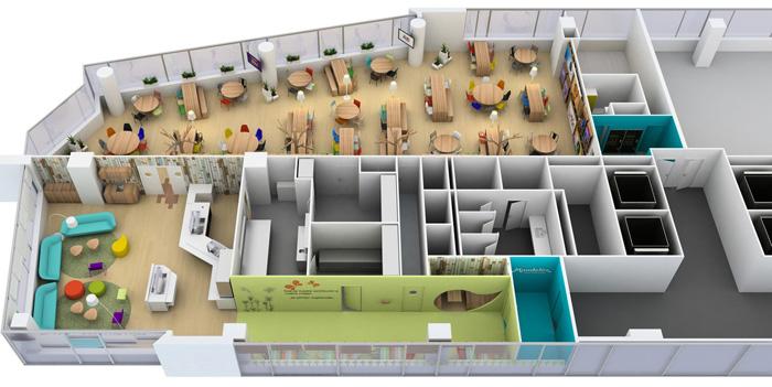 食品公司办公室装修设计